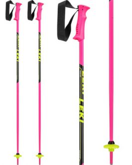 LEKI kije narciarskie dziecięce Racing Kids Pink
